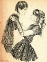 First Dance -- Hiccup and Astrid by inhonoredglory