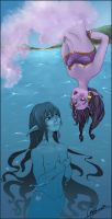 Extremes meet_Genie and Nereid by missVarlou