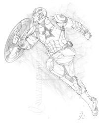 Captain America 001 Small by mikewilsonart