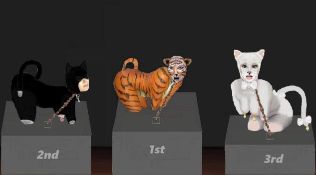 The pet-girl contest: latex felines by Nomad1978