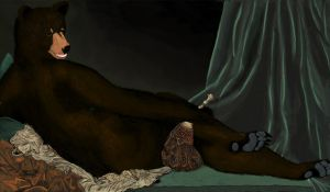 BearNaked Odalisque by JBWolfer