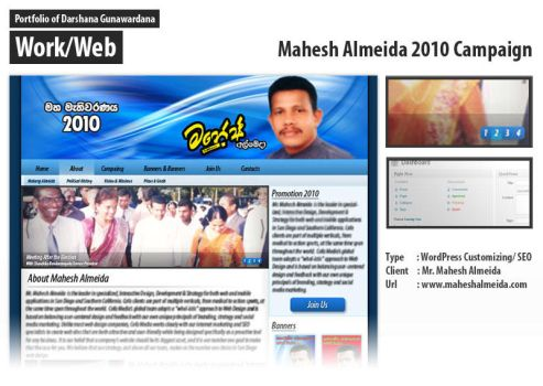 Mahesh Almeida 2010 Campaign by darshana4it