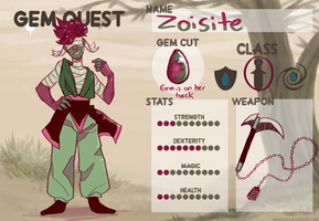 Gem Quest: Zoisite!! by Emberwyng