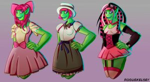 [OC] Tuiles Outfits by ROGUEKELSEY