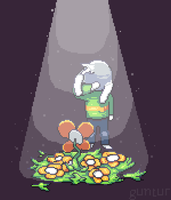 lonely asriel by bapakguntur