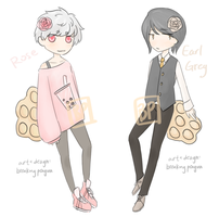 Rose and Earl Grey Egglets Adopts OTA {closed} by BreakingPenguin