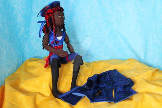Pirate Queen Cloth art doll 2 by KaitanTylerguy