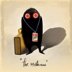 Mothman say HI by Dogsfather