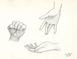 The practice of drawing hands_2 by TaileenDenvers