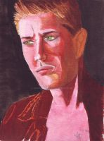 Jensen Ackles Watercolours by fantasy-fairyland