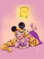 Mickey Ears - Rapunzel by DylanBonner
