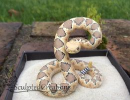 Realistic Rattlesnake sculpture commission by BahamutDeusModus