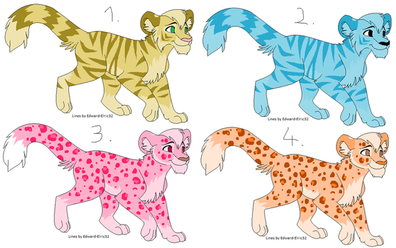 Tiger  Leopard adopts (description) /CLOSED/ by IToastedAToaster