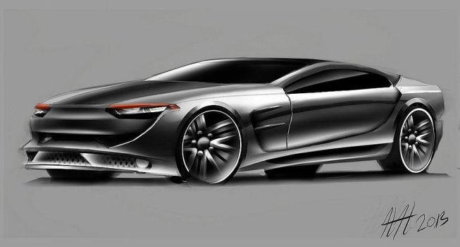 Toyota coupe from drawing by koleos33