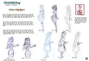 How to Draw Cartoon Body figures by celaoxxx