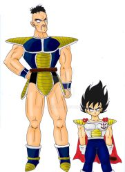 Young Vegeta And Nappa-request by Lala-Dello