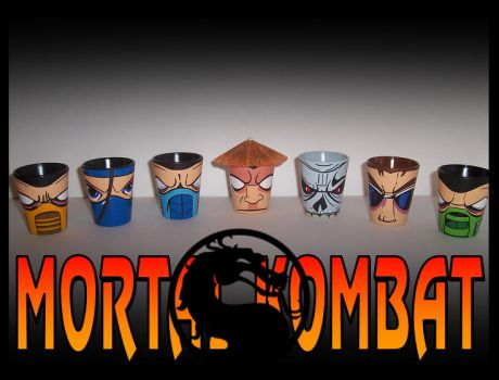 Mortal Kombat Shot Glass Set by F1shcustoms