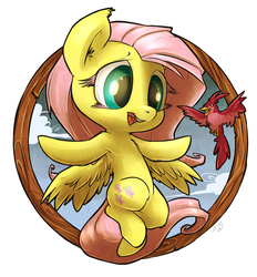 Fluttershy Badge by atryl