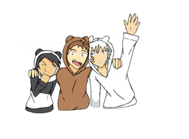 We Bare Bear Humans by Wolfpuprios