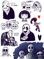 UNDERTALE - A trash of an undertale trash - by BloodyArchimedes