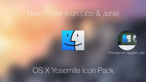 OS X Yosemite New Finder Icon by vndesign
