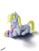 Derpy and Dinky by Sa1ntMax