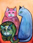 Colorful Cats in Portrait 1 by jempavia