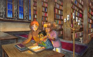 Late at night, in the library... by masaothedog