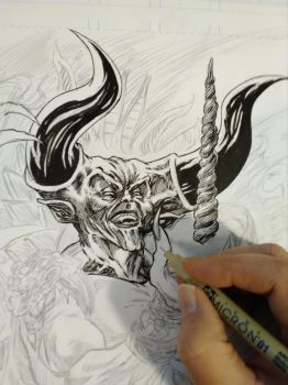 Darkness Inks progess by KenHunt