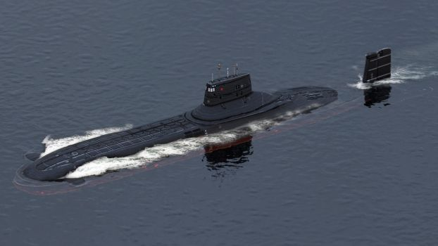 Submarine Typhoon-class by sanchiesp