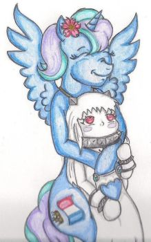 Alicorn Hime Hugs by TheGloriesBigJ