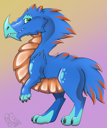 Blue Dino Raptor by Caitybee