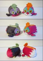 Stacking Plush: Mini Hawlucha and Shiny Hawlucha