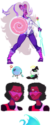 Fusions and Gem Monstahs by Nefepants