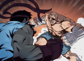 Sagat-vs-Ryu by ifesinachi