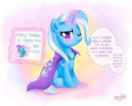 Trixie Happy Holidays by iMoshie