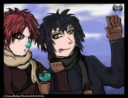 Gaara + Icecream Is Fun 4 Tomo by l3xxybaby