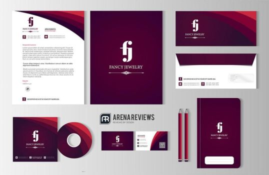 Fancy Jewelry Office Stationery Template Design by ArenaReviews