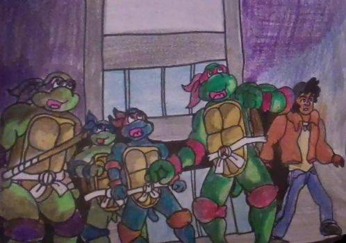 Turtles and Carter by AprilONeil1984