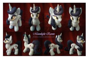 Moonlight Raven plush by Feneksia-Creations