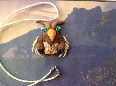 Handmade Moonkin Hatchling, polymer clay by Juulvh