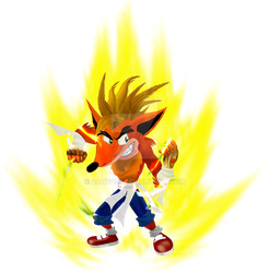 Crash Bandicoot Super Saiyan by danyq94