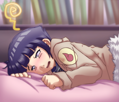 Embarrassed Hinata by Ironcid
