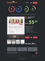 Designs4Five - Website PSD Templates by alwinred