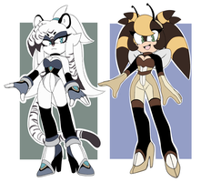 tiger and bee adopts ( closed ) + extras !!! by Toketsuu