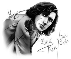 Kylo Ren/Ben Solo Stylised Study by Alyoxy