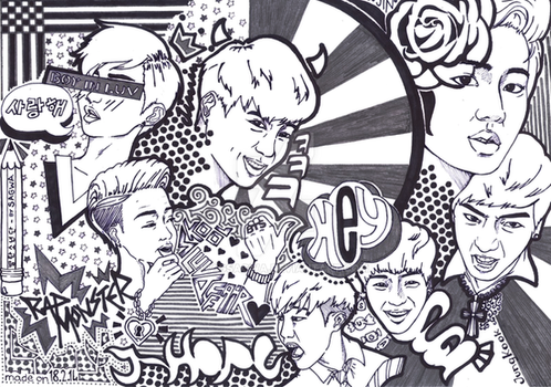 BTS Doodle by SwagSagwa