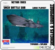 Action Mice Vehicle Concept Orca Battle Sub by stourangeau