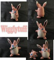 Wigglytuff Sculpture: Collage