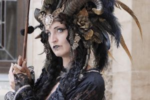 Stock - Black and gold Vampire Queen Faun Demon 40 by S-T-A-R-gazer
